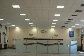 Office false ceiling Round Office Reception Tgrid False Ceiling Ideas Green Kalam Interior Portfolio Green Kalam Interior
