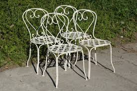 wrought iron garden furniture. French Wrought Iron Garden Chairs 1860s Set Of 4 For Sale At Pamono Elegant Along Furniture
