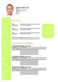 modelo curriculum formato de curriculum vitae moderno para descargar en word