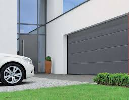 european garage door with car