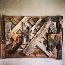 custom made reclaimed wood wall art