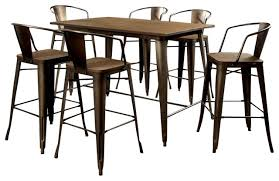 industrial counter height table. Cooper 5-Piece Metal Counter Dining Table Set Industrial Height R
