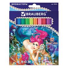 """Купить Фломастеры <b>BRAUBERG</b> """"<b>Морские</b> легенды"""", 12 цветов ..."""