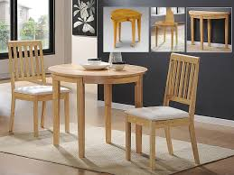 round wooden dining table and 2 chairs set 2 round