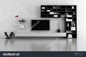 Interior Design Black And White Living Room Black White Living Room Tv Stand Stock Illustration 112639304