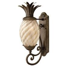 pineapple outdoor lighting fixture. terry traditional 1-light outdoor pineapple-shaped wall lantern pineapple lighting fixture e