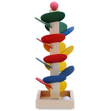 Wooden Baseball Game Toy Wholesale Wooden Building Blocks Toy Tree For Children Marble Ball 84
