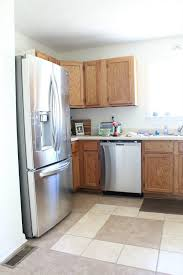 makeover cottage kitchen cabinet how to paint color sw dover white