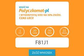 Pozyczkomat.pl - kod promocyjny 50% zniżki | pożyczka portal