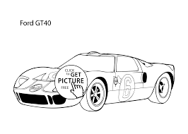 Small Picture Super car Ford GT40 coloring page cool car printable free