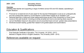 Cv For Teaching Teacher Cv Examples Writing Guide And Cv Template
