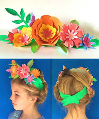 Paper Flower Hats Wear This Paper Flower Crown For Cinco De Mayo My Stuff