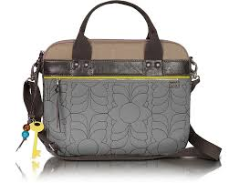 Fossil Grey Key Per - Quilted Laptop Tote at FORZIERI & Key Per - Quilted Laptop Tote - Fossil Adamdwight.com