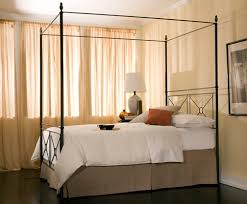 queen bed side view. Campaign Forged Iron Canopy Bed-Side View W/Pineapple Finials Queen Bed Side