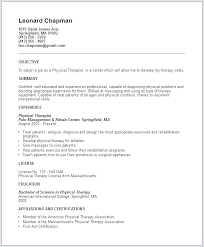 Physical Therapy Objective Resume Best Of Fine Physical Therapy Aide Resume Samples Regarding Physical Fine
