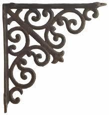 cast iron ornate curl shelf bracket