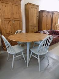 round blonde ercol painted dining table 4 chairs