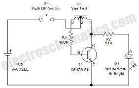 joule thief high efficiency led 1 5 volt battery high efficiency led circuit schematic