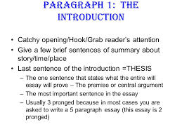 paragraph the introduction ppt  paragraph 1 the introduction