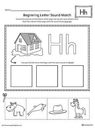 Practice uppercase letter h recognition and basic phonics with this alphabet worksheet. Letter H Beginning Sound Picture Match Worksheet Letter H Worksheets Letter H Activities For Preschool Preschool Letters