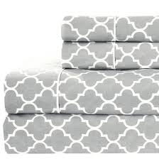 printed meridian  cotton percale sheets
