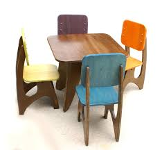 modern child table set   chair option  child modern and etsy
