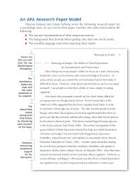 Samples Of Apa Research Papers Sample Apa Research Paper Docsity
