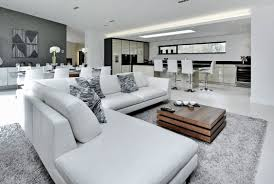 Contemporary Family Room Designs Contemporary Modern Style White Living Room Decor With White