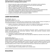 Construction Resume Sample Free Cover Letter Widescreen Generalborer Resume Example Exclusive 80