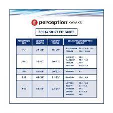 Kayak Spray Skirt Size Chart Perception Truefit Kayak Spray Skirt Harmony Gear
