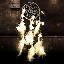 How To String Dream Catcher Decorative Accents White Valentine's Day Gift DIY Stars Lights 74