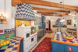 Spanish Style Kitchen Decor Vibrant Small Spanish Style Kitchen With Yellow Walls And Plates