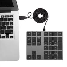<b>Creative 34 key two-zone aluminum</b> alloy wired number keyboard ...