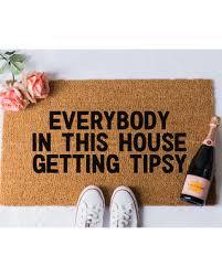Tipsy Doormat Funny Doormat Welcome Door Mat Housewarming Gift Booze Doormat  Funny Doormats Funny Door Mat