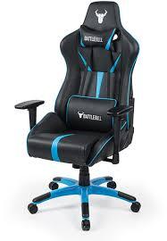 battlebull arrow gaming chair black blue