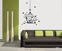 Small Picture meSleep Birds Design Black Wall Sticker Amazonin Home Kitchen