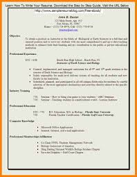 Teaching Job Cv Format Format For A Job Resume Resume For Study