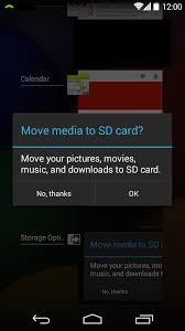 when you first insert an sd card into your phone you ll be prompted to move files to the sd card