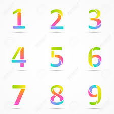 number 3 template numbers 1 2 3 4 5 6 7 8 9 company vector design templates