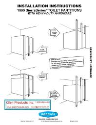 Bathroom Partitions Hardware Beauteous Catalog And ArticlesBobrick Partiion Installation Instructions
