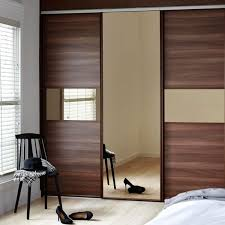 glass vertical sliding mirror wardrobe door kits kitchen solutions panels ed cream central coast storage diy