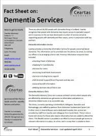 dementia fact sheet downloads ceartas