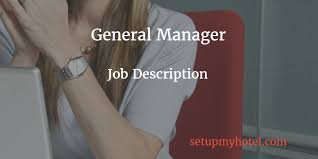 Catering Manager Job Description Extraordinary General Manager Hotel Manager Job Description