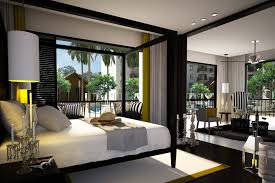 master bedroom design ideas canopy bed. modern black wooden canopy bed frame using white mattress also ceiling to floor window curtain treatment. related articles in \ master bedroom design ideas r