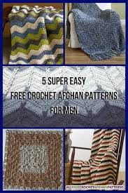 Free Crochet Afghan Patterns Custom 48 Super Easy Free Crochet Afghan Patterns For Men