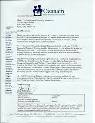 Thank You Letter Sent To Us By Ozanam After Our 3rd Thursday