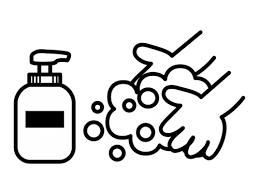 石鹸で手洗いの白黒イラスト02 かわいい無料の白黒イラスト モノぽっと