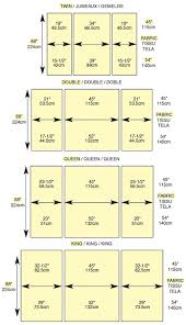 A chart for piecing standard width fabrics for comforters to avoid ... & Quilt backing. Here is a terrific chart to guide you with your quilt  backing. Quick-look chart to piece quilt backings without a center seam. Adamdwight.com