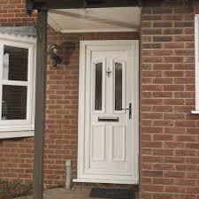White Front Door Front Door In White UPVC Nongzico
