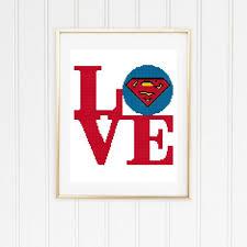 Superman Cross Stitch Pattern Superman Pattern Easy Cross Stitch Superman Stitch Superman Logo Superman Chart 04 001